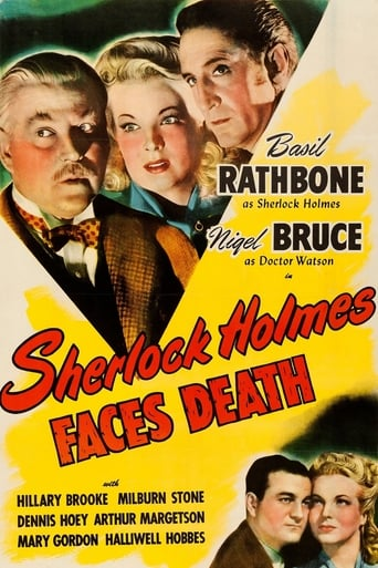 Poster of Sherlock Holmes Faces Death