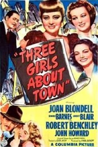 Poster of Three Girls About Town