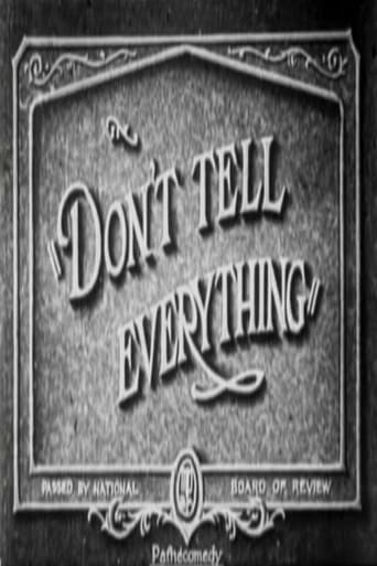 Don't Tell Everything