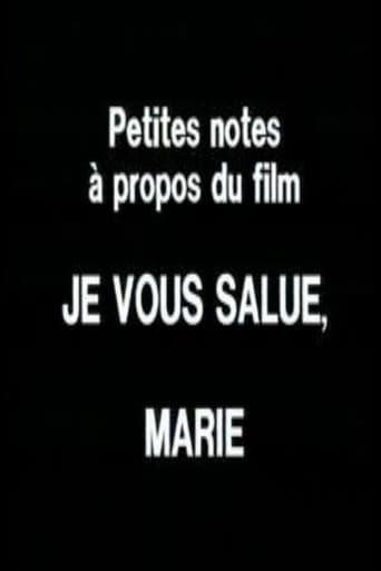 Poster of Petites notes à propos du film 'Je vous salue, Marie'