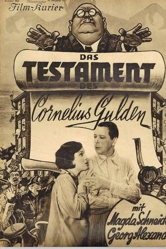 Poster of Das Testament des Cornelius Gulden