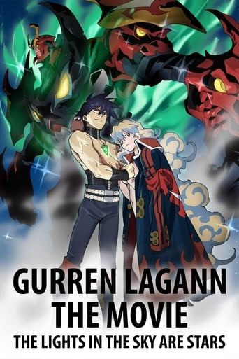 Poster of Gurren Lagann the Movie: The Lights in the Sky Are Stars