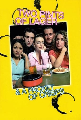 Poster of Two Pints of Lager and a Packet of Crisps