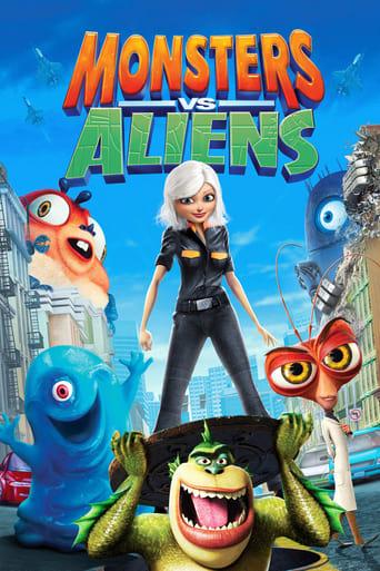 Poster of Monsters vs Aliens
