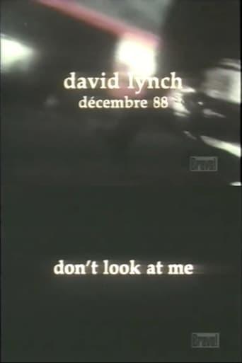 Poster of David Lynch: Don't Look at Me