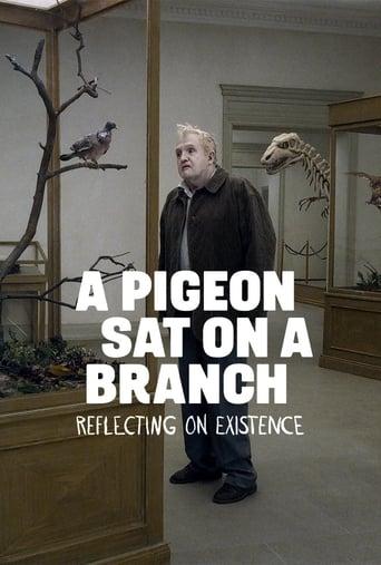En duva satt på en gren och funderade på tillvaron - filmaffisch