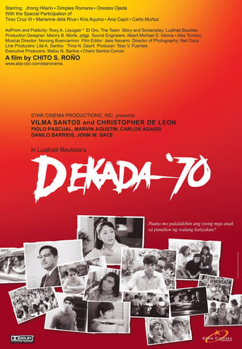 reaction paper on the movie dekada 70