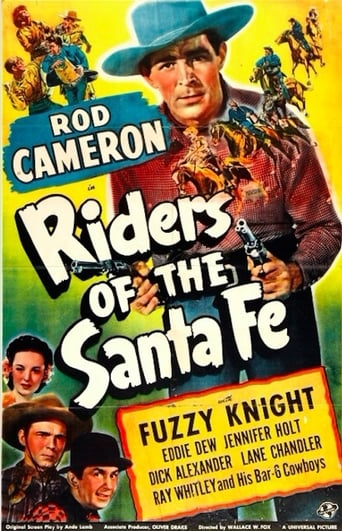 Poster of Riders of the Santa Fe