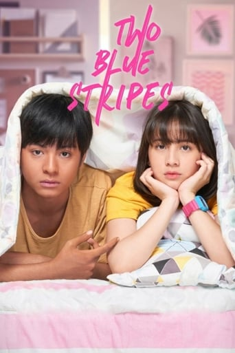 Poster of Two Blue Stripes