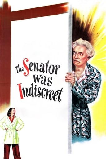 Poster of The Senator Was Indiscreet