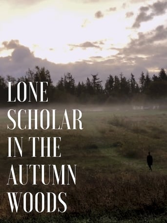 Poster of Lone Scholar in the Autumn Woods
