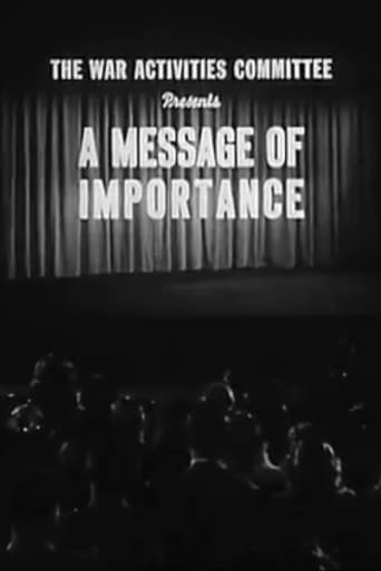 Poster of A Message of Importance