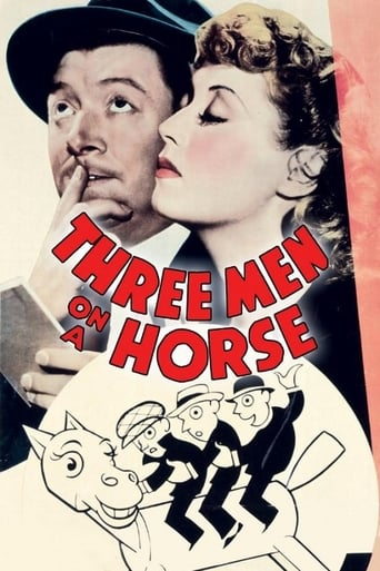 Poster of Three Men on a Horse