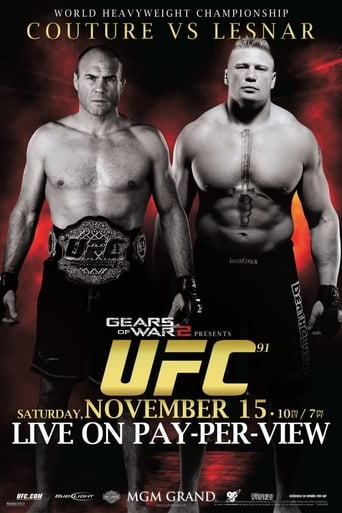 Poster of UFC 91: Couture vs. Lesnar