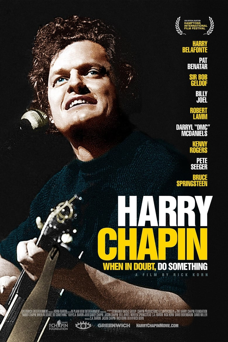 Theatrical poster for Harry Chapin: When in Doubt, Do Something