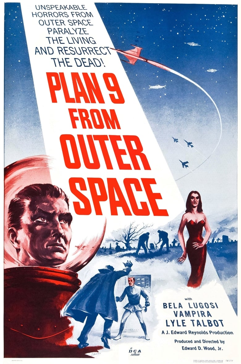 Theatrical poster for Plan 9 from Outer Space