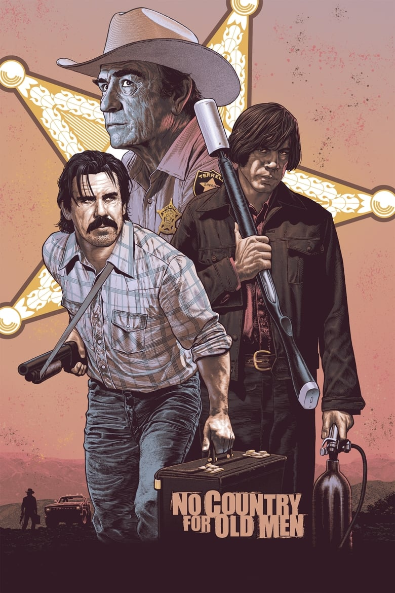 Theatrical poster for No Country For Old Men