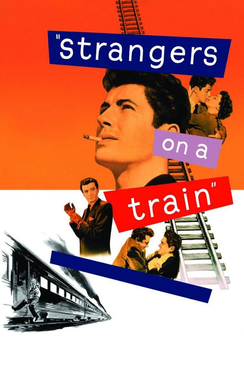Theatrical poster for Hitchcock's Strangers on a Train