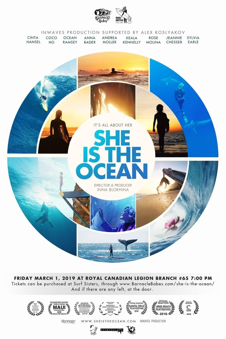 Theatrical poster for She is the Ocean