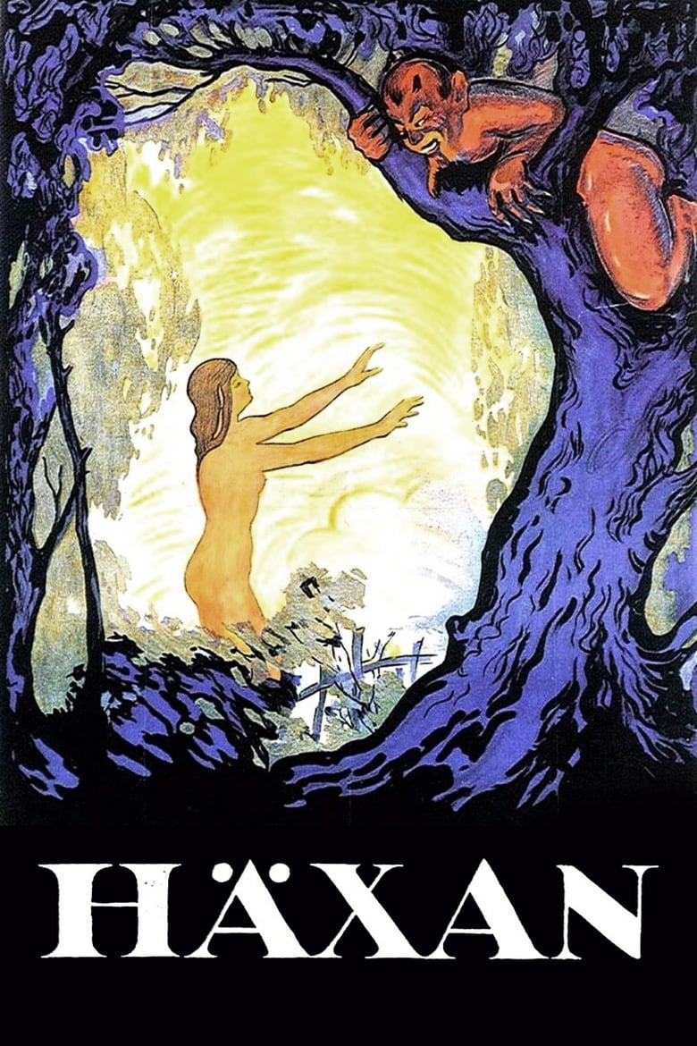 Theatrical poster for Häxan with live score by RAIC