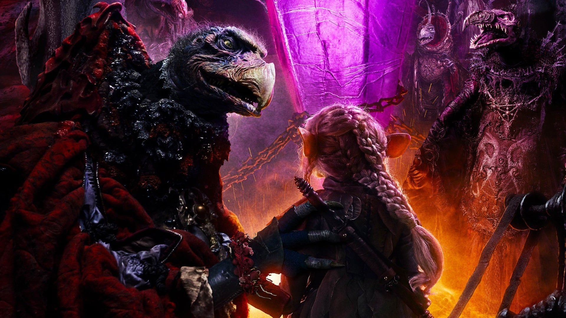 When the Crystal of Truth is damaged, corrupted by the evil Skeksis, and a sickness spreads across the land, three Gelflings uncover the horrific truth behind the power of the Skeksis and an adventure unfolds as the fires of rebellion are lit and an epic battle for the planet begins.