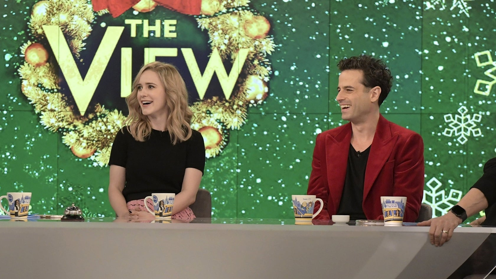 The View Season 23 :Episode 71  Rachel Brosnahan and Luke Kirby