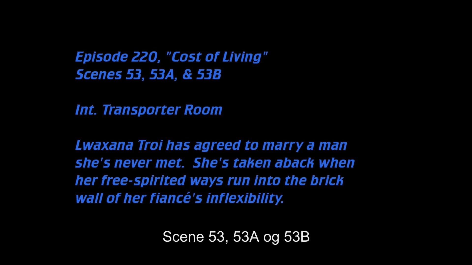 Deleted Scenes:S05E20 - Cost of Living-Azwaad Movie Database