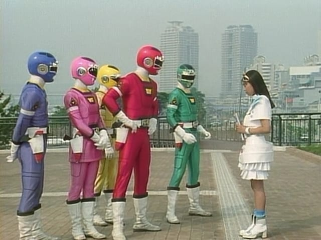 Super Sentai Season 20 :Episode 25  The Mystery Girl Who Jumped the Queue!