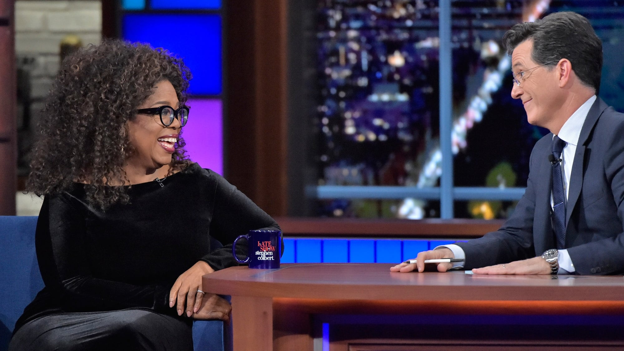 The Late Show with Stephen Colbert Season 1 :Episode 28  Oprah Winfrey, Joseph Fink, Jeffrey Cranor, Judith Hill