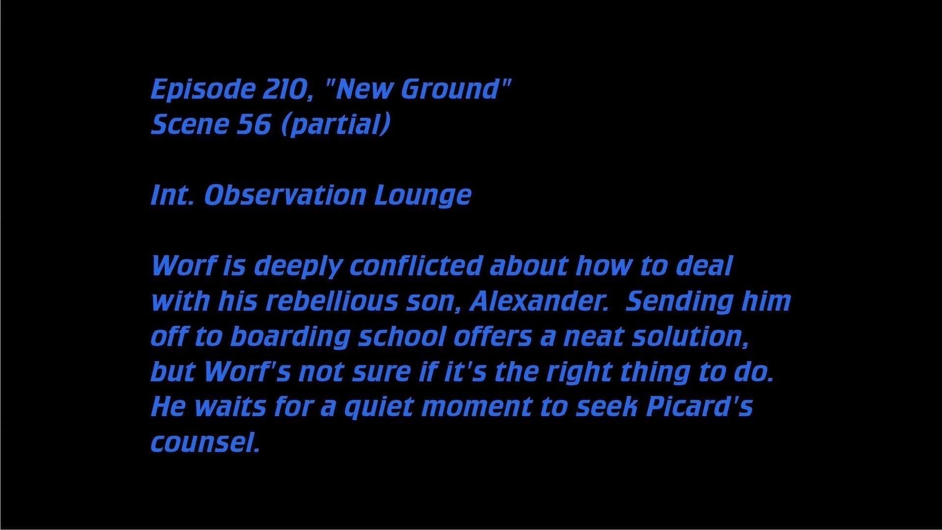 Deleted Scenes: S05E10 - New Ground-Azwaad Movie Database