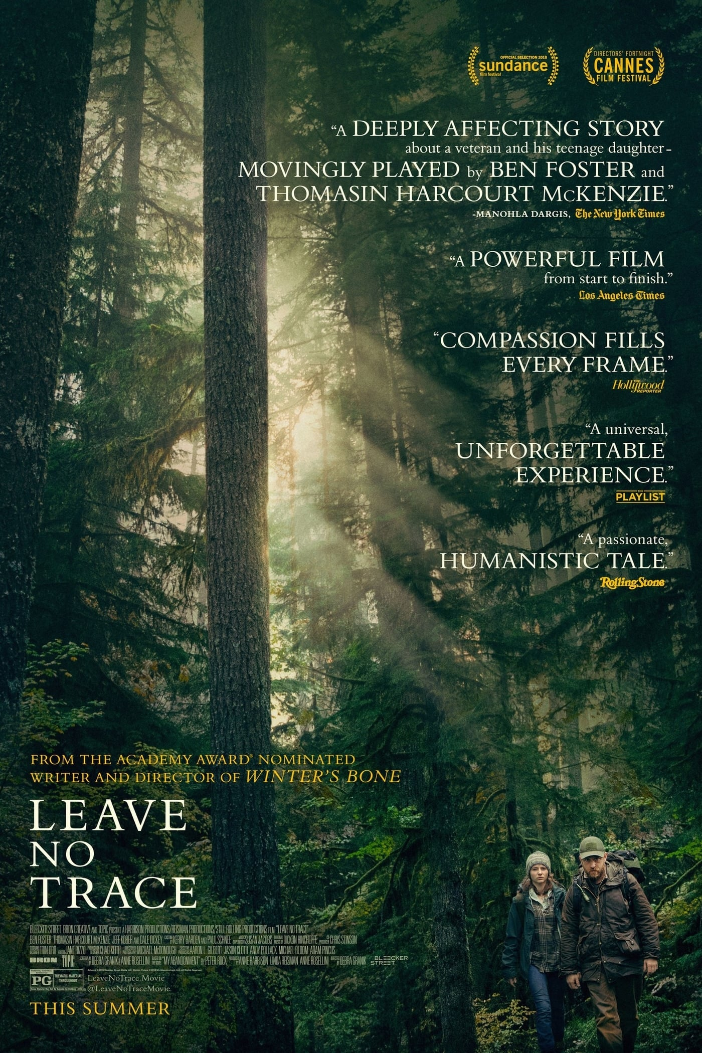 Poster and image movie Film Leave No Trace - Leave No Trace 2018
