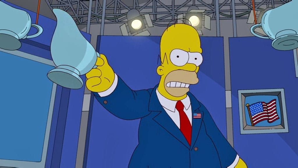 The Simpsons Season 23 :Episode 10  Politically Inept, with Homer Simpson