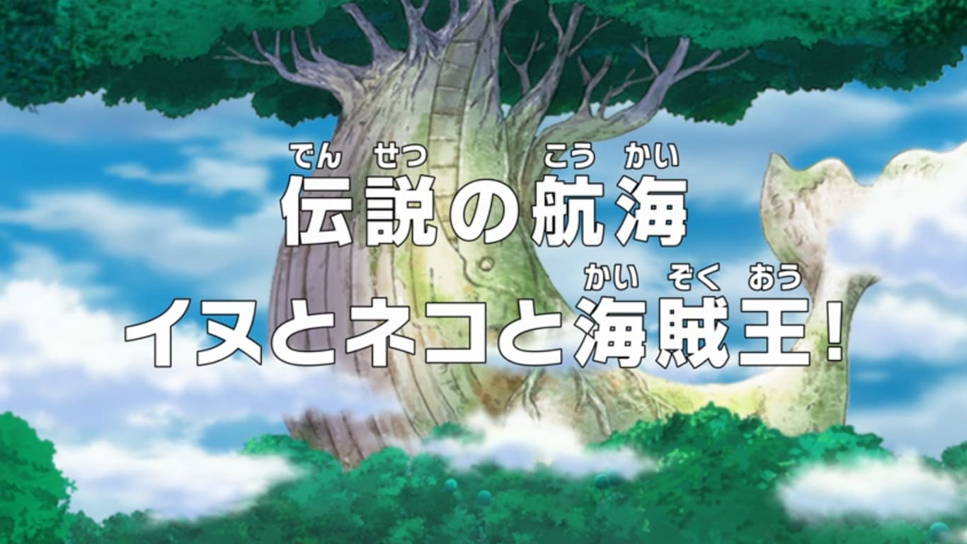 One Piece - Season 18 Episode 772 : The Legendary Journey - The Dog and the Cat and the Pirate King!