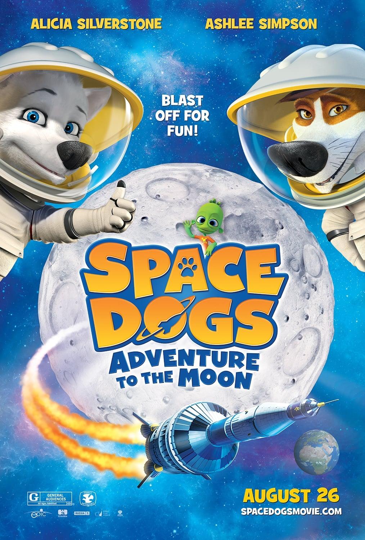 Póster Space Dogs: Aventura a la Luna