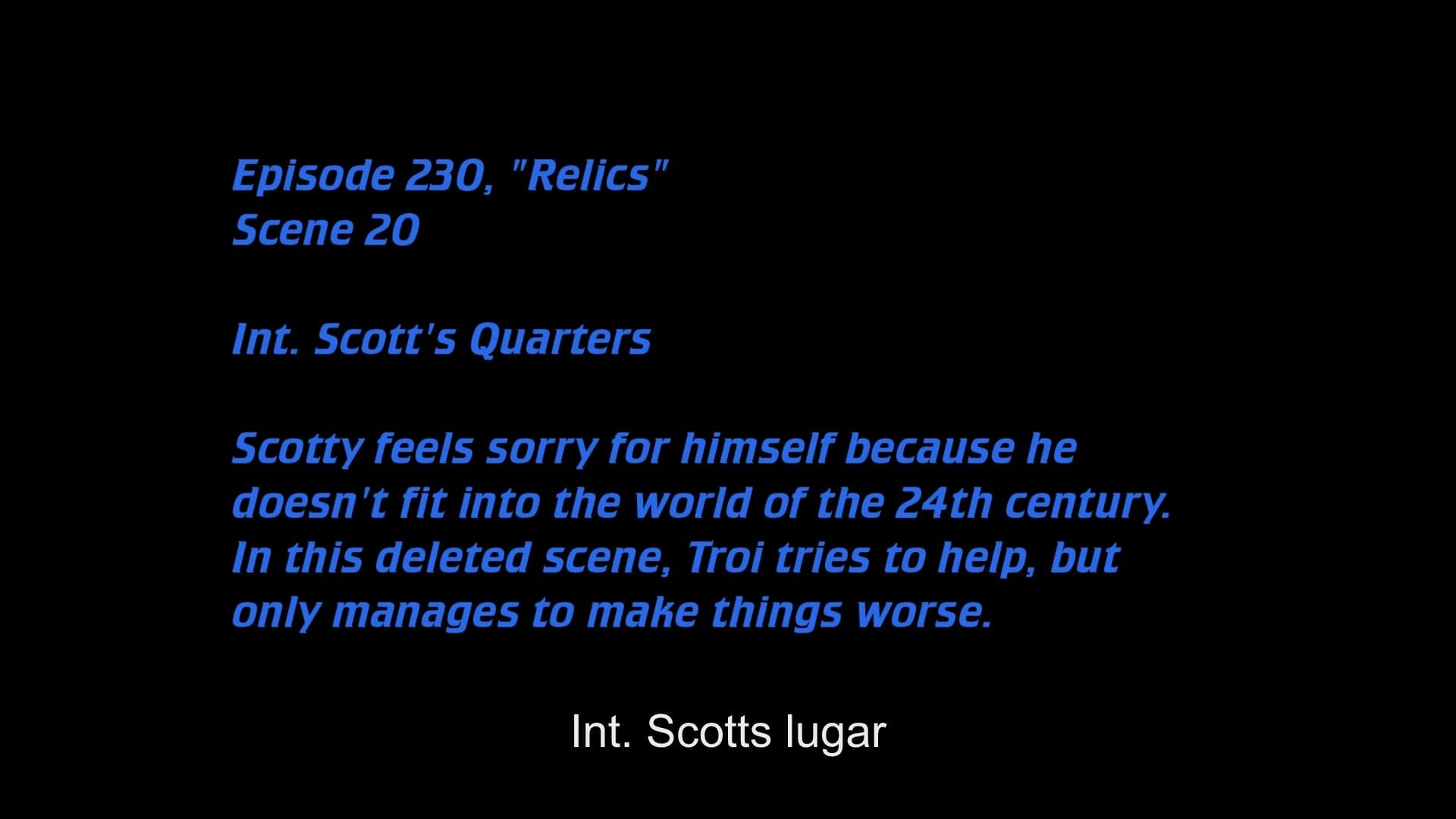 Deleted Scenes:S06E04 - Relics-Azwaad Movie Database