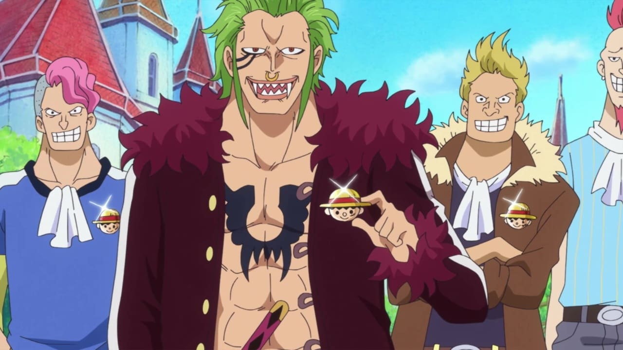 One Piece Season 20 :Episode 885  In the Dark Recesses of the Holyland! A Mysterious Giant Straw Hat!