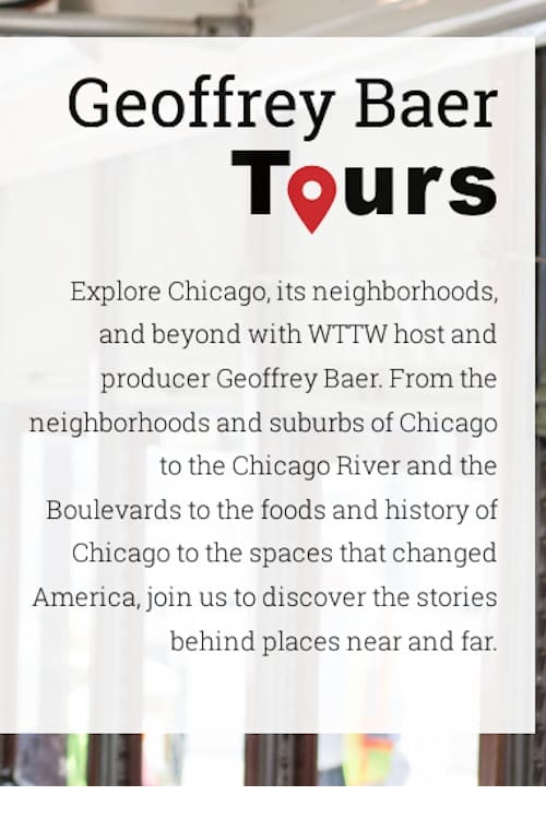 Chicago Tours with Geoffrey Baer (1970)