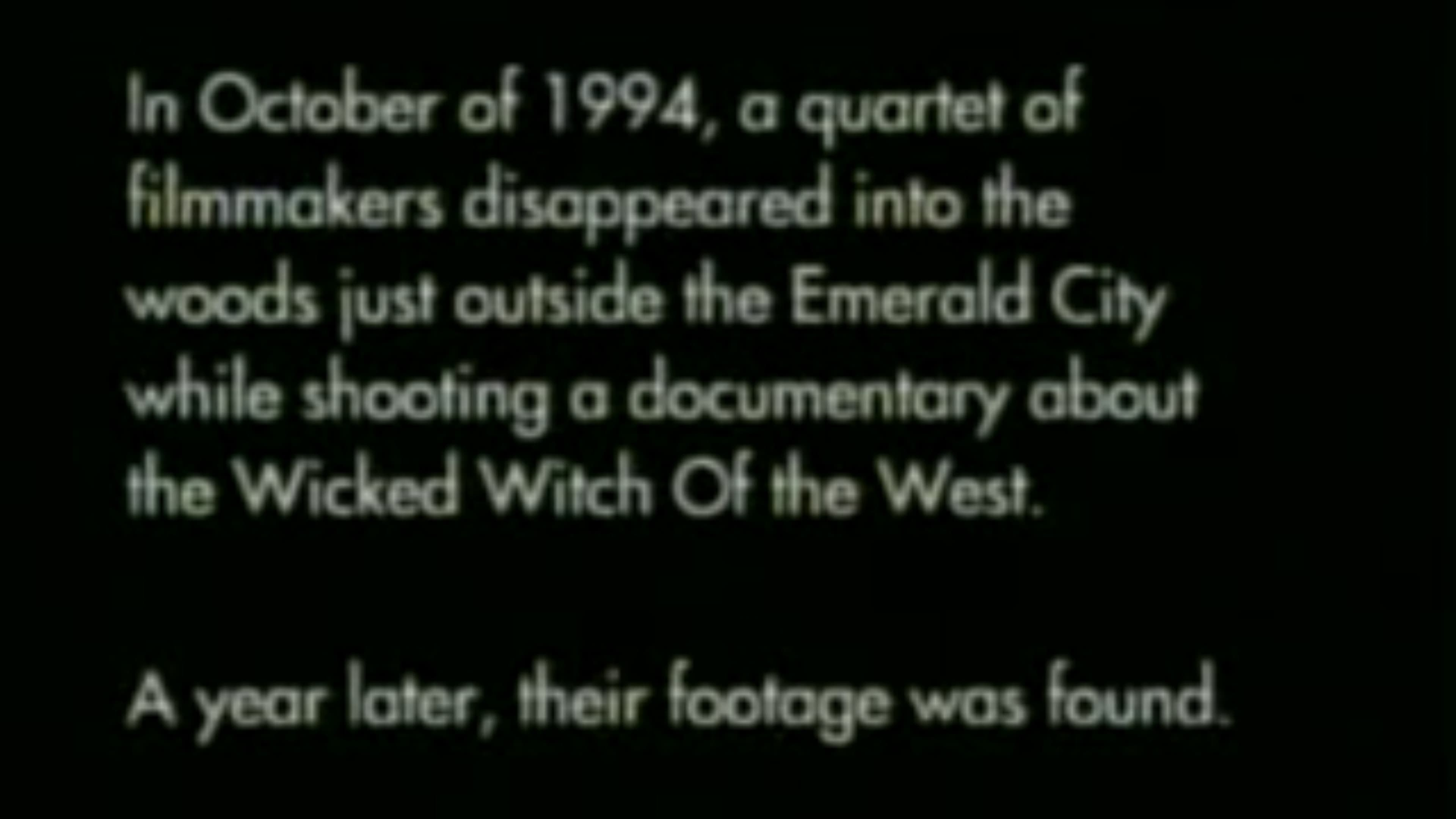 The Wicked Witch Project