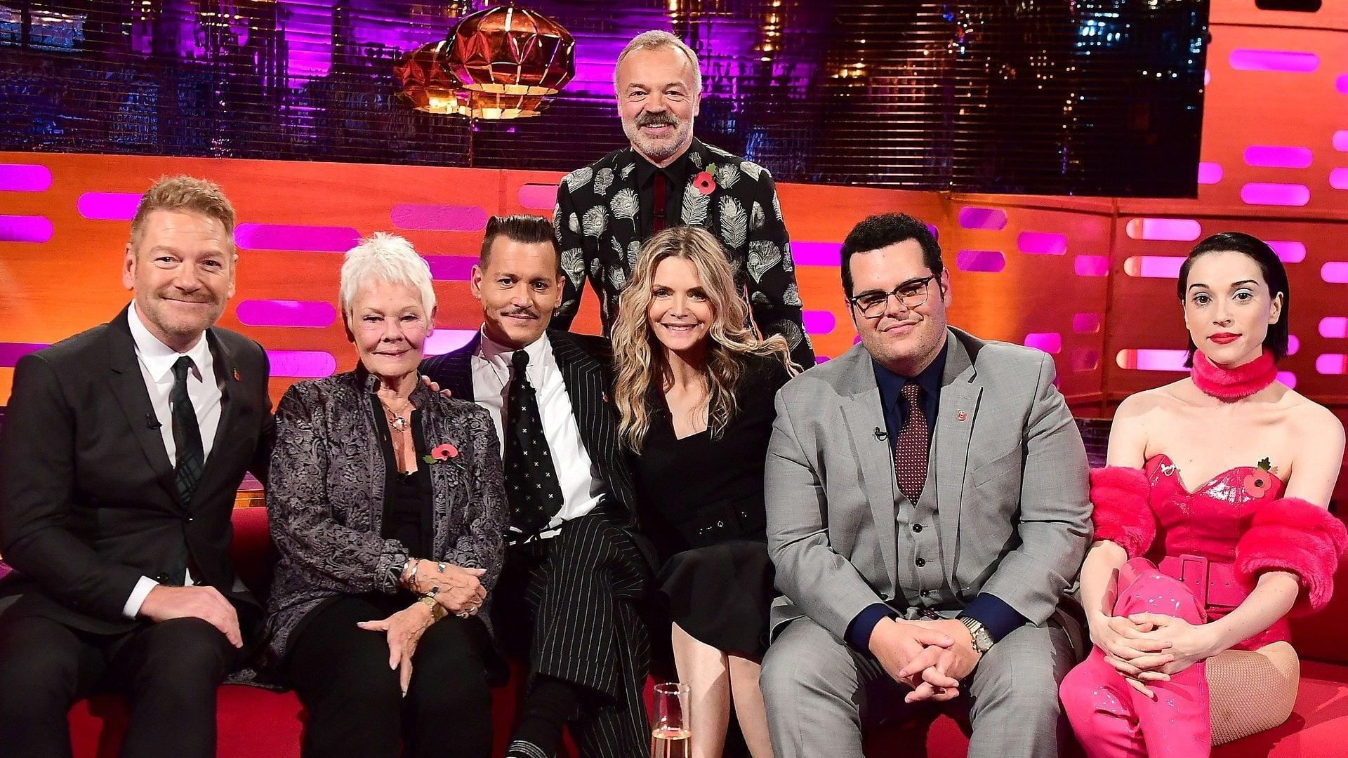 The Graham Norton Show Season 22 :Episode 6  Kenneth Branagh, Michelle Preiffer, Judi Dench and Josh Gad