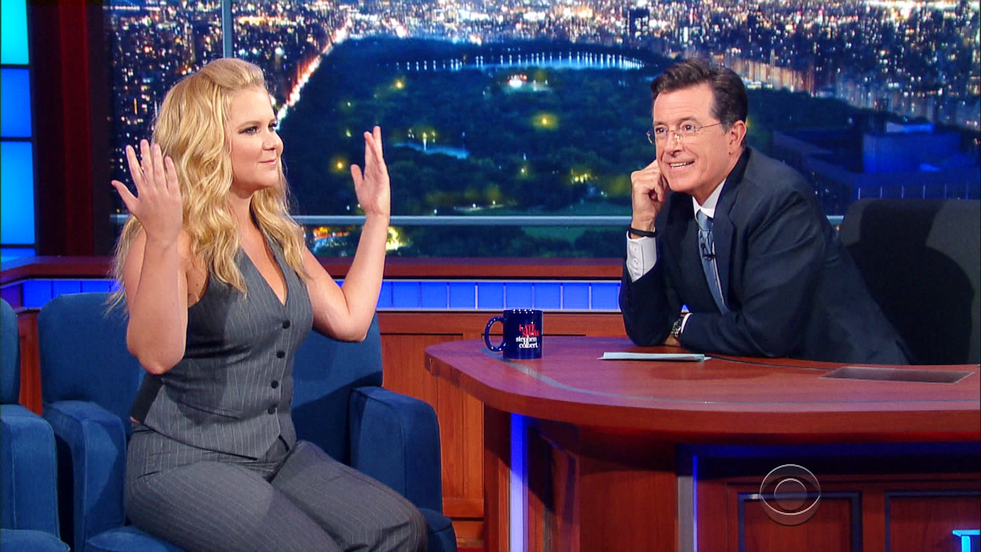 The Late Show with Stephen Colbert Season 1 :Episode 4  Amy Schumer, Stephen King, Troubled Waters (Paul Simon)