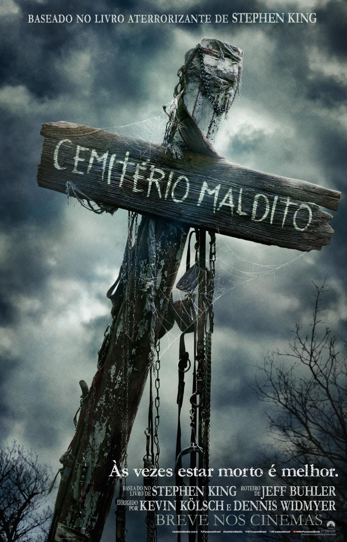 Cemitério Maldito poster, capa, cartaz