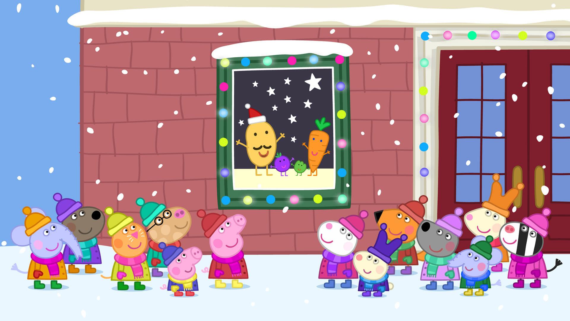 Peppa Pig Season 4 :Episode 25  Mr Potato's Christmas Show