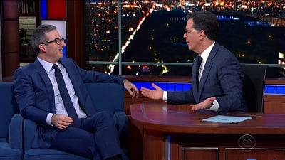 The Late Show with Stephen Colbert Season 5 :Episode 90  James Marsden / Sam Heughan / John Oliver