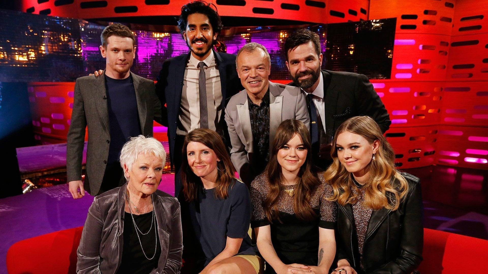 The Graham Norton Show Season 16 :Episode 16  Dame Judi Dench, Dev Patel, Sharon Horgan, Rob Delaney, Jack O'Connell, First Aid Kit