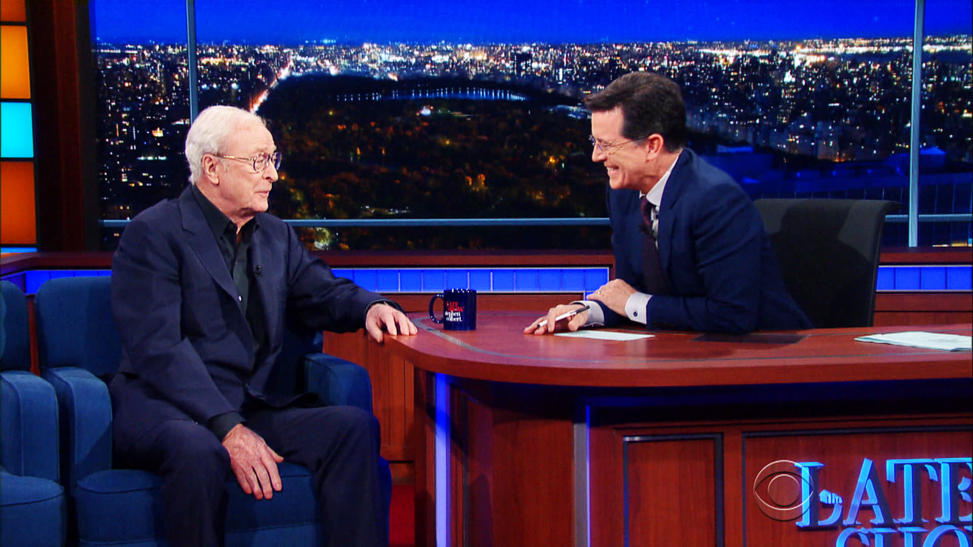 The Late Show with Stephen Colbert Season 1 :Episode 49  Michael Caine, Larry Wilmore, Boots