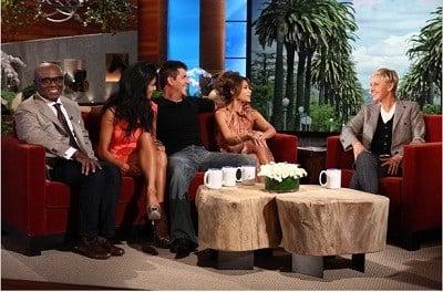 The Ellen DeGeneres Show Season 9 :Episode 13  Simon Cowell, Paula Abdul, Nicole Scherzinger, L.A. Reid, Steve Jones, Luke Bryan