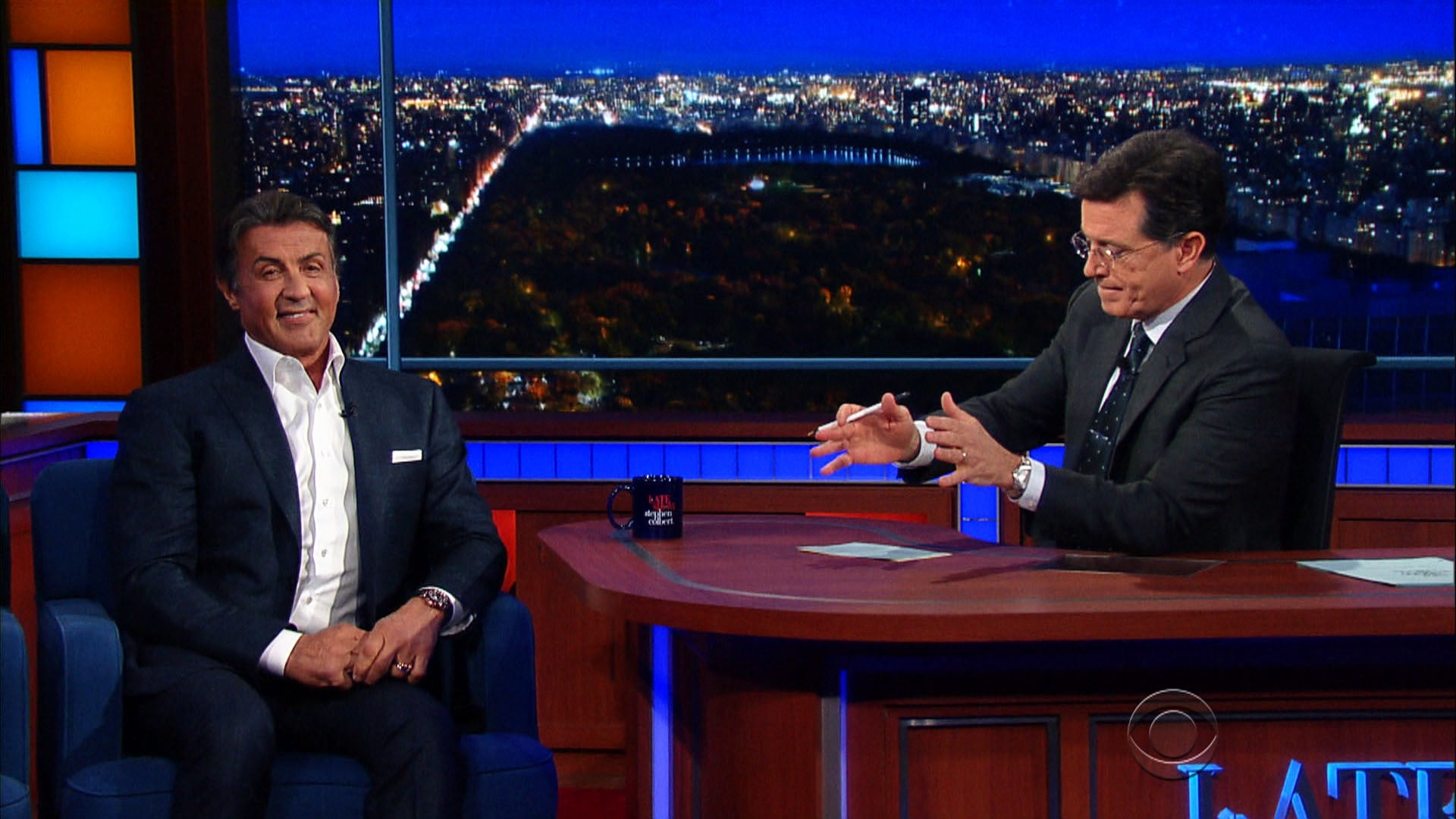 The Late Show with Stephen Colbert Season 1 :Episode 50  Sylvester Stallone, Ted Koppel, My Morning Jacket