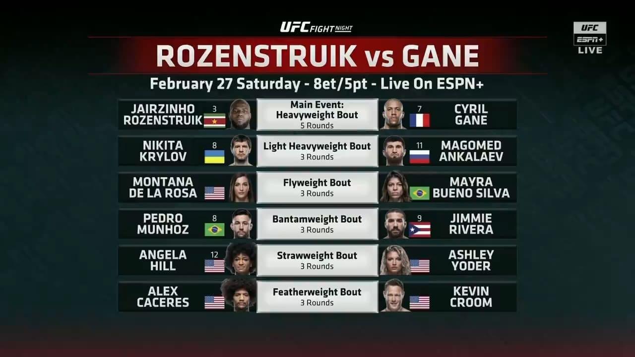 UFC Fight Night 186: Rozenstruik vs. Gane