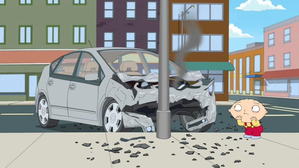 Stewie Conduce un Auto