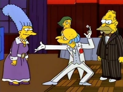 The Simpsons Season 5 :Episode 21  Lady Bouvier's Lover